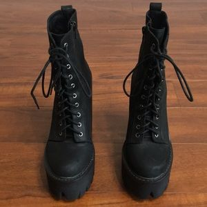 Jeffrey campbell cleated platform boots